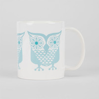 Groovy Owls Coffee Mug Blue One Size For Women 24904820001