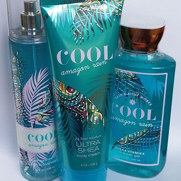 Bath & Body Works COOL AMAZON RAIN Body Cream / Fragrance Mist /Shower Gel