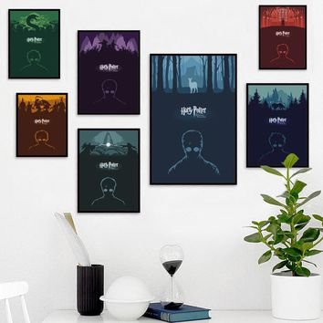 Elegant Poetry Harry Potter Movie Poster Decoration Canvas Painting Art Print Poster Picture Home Decor, Bedroom Wall Decoration