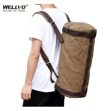 Men Huge Travel Bag Army Luggage Bucket Backpack Multifunctional Military Canvas Backpacks Large Shoulder Bags Back Pack XA58C
