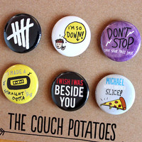 "5 Seconds of Summer 5SOS 1.25"" Buttons 6 Pack"