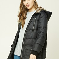Longline Hooded Puffer Jacket