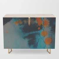 Couldn't look you in the eye Credenza by duckyb
