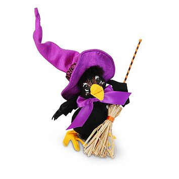 Annalee Dolls 7in 2017 Halloween Crow Witch Plush New with Tags