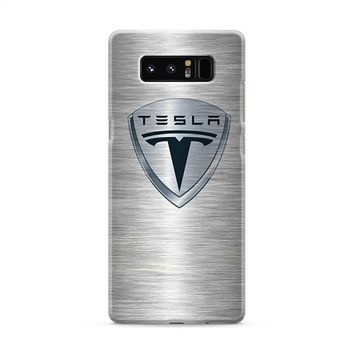 Tesla Motors Brushed Metal Logo Samsung Galaxy Note 8 Case