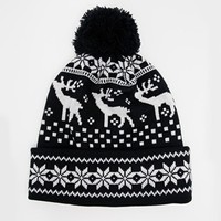 ASOS Bobble Beanie with Stags