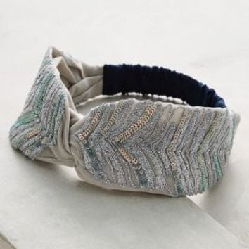 Taiz Turban Band by Anthropologie in Silver Size: One Size Hair