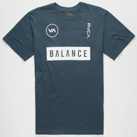 Rvca Balance Mens T-Shirt Navy  In Sizes