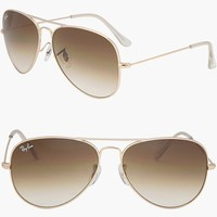 RAY BAN AVIATOR RB3025 001/51 Sunglasses - Gold/Brown (ALL SIZES: 55mm/58mm/62mm)