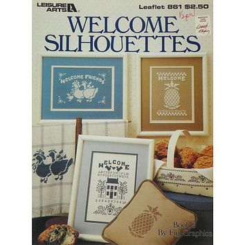 Welcome Silhouettes - Counted Cross Stitch Leaflet - Leisure Arts