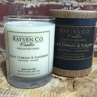 Scented Candle, Black Currant & Tangerine Candle