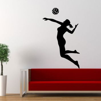 Volleyball Player Wall Decals