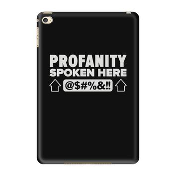 profanity spoken here iPad Mini 4
