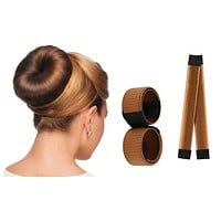 Magic Hair Bun Maker 4 Piece Multi Color Hair Styling Tools