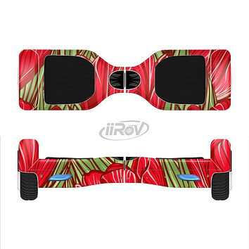 The Sketched Pink & Green Tulips Full-Body Skin Set for the Smart Drifting SuperCharged iiRov HoverBoard