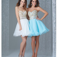Preorder - Madison James 16-315 Ivory Strapless Crystal Bodice Short Chiffon Dress 2015 Homecoming Dresses
