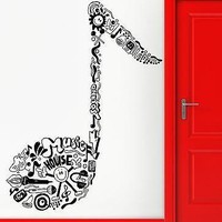 Wall Sticker Vinyl Decal Notes Music Night Club Cool Living Room Decor Unique Gift (2408)
