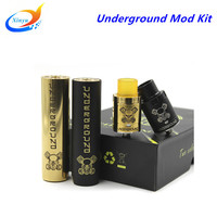 SUB TWO Electronic cigarette Underground Kit vape mod mechanical huge vapor mod with RDA E Cigarette 2 Colors fit 18650 Battery