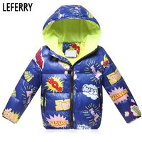 2017 New Winter Kids Clothes Boys Children Clothing Cotton Down Jacket And Coats boys Winter Coats Hooded Girls Winter Jackets