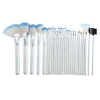 Abody 26Pcs Wood Handle Makeup Brushes Kit and Pouch Bag Case