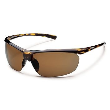 Suncloud Zephyr Tortoise Sunglasses, Brown Polarized Lenses