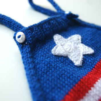 Patriotic baby romper, 4th of July baby outfits, knit baby bodysuit