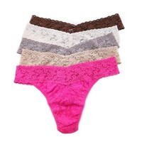 Siganture Lace Original Thong 5 Pack