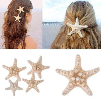 10pcs Fashion Girl Chic Starfish Beach Sea Star Hairpin Hair Clip Korean Stylish Headdress Accessories Jewelry
