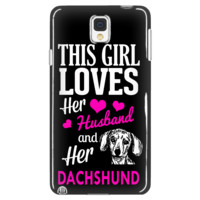 This Girl Loves Hubby & Dachshund Phone Case