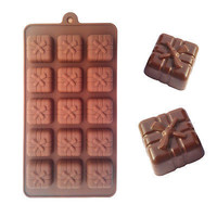free shipping 15 holes gift box toaster baking cake chocolate moulds molds tray Easy release