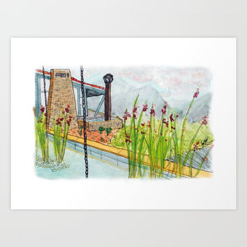 House by the mountains Art Print by JorgeLo Art