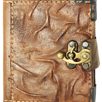 4x4 Mini Wrinkle Leather Journal & Latch