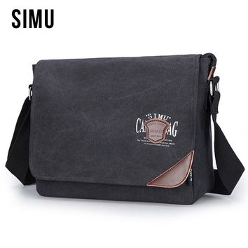 New Fashion Style Men's Cotton Canvas Retro Chest Bag Shoulder Crossbody Small Male Bags Travel Casual Messenger For Men HQB1877