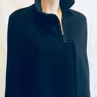 Authentic Prada Cape. Zipper and Button Closer Size 38