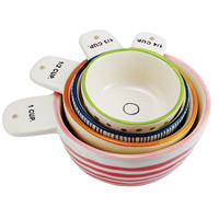 """Measure Twice"" Measuring Cups, Set of 4 by Rae Dunn"