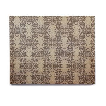 "Mydeas ""Illusion Damask Silver"" Gray Birchwood Wall Art"