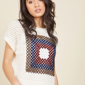 Crochet Si Bon Knit Top
