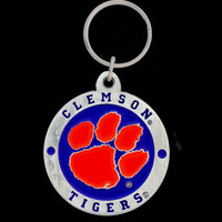 Clemson Tigers Carved Metal Key Chain
