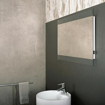 DAX-DL36 / DAX RECTANGLE LED LIGHT BATHROOM VANITY MIRROR WITH ROCKER SWITCH, WALL MOUNT, ALUMINUM FRAME, 35-7/16 X 23-5/8 X 1-1/2 INCHES