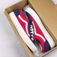VANS STYLE 36 OS 2018 new men's and women's low top shoes F-CSXY blue/red