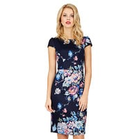 BURSTING BOUQUET MIDI DRESS: Betsey Johnson