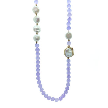 Composition in Pearls and Agate, Necklace