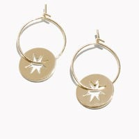 & Other Stories | Star Charm Hoop Earrings | Gold