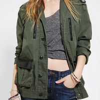 Urban Outfitters - BDG Vegan Leather Trim Surplus Jacket