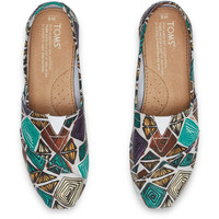 WHITE MULTI CANVAS PRINTED ABSTRACT WOMEN'S CLASSICS