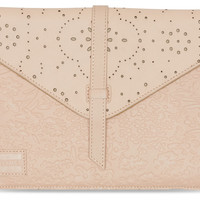 TOMS vachetta pattern embossed jetset leather tablet sleeve