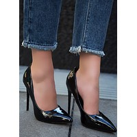 Sasha Pointed Pump - Black