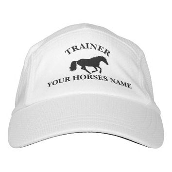 Trainer pony equestrian horse design headsweats hat