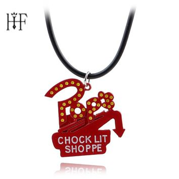 New Arrival,Riverdale Pop's Chock'lit Shoppe Design Lovely Pendant Necklace Red Enamel pendant Necklaces Men Women Jewelry