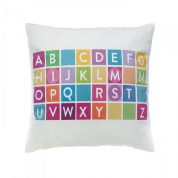 Alphabet Decorative Pillow